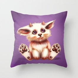 SQUEE! The Horned Foxling Throw Pillow