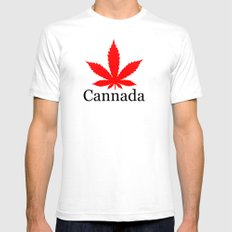 Cannada Mens Fitted Tee SMALL White