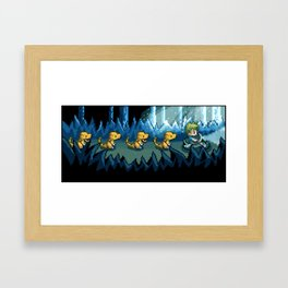 Pixel Jurassic World Framed Art Print