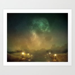 Ghost Lights Art Print