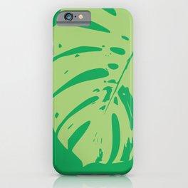 Leaf modern minimal print iPhone Case