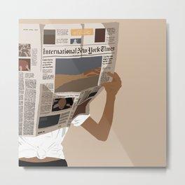 International New York Times Metal Print
