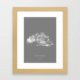 Die Alpen (Mont Blanc) Framed Art Print
