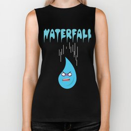 """Check out this funny graphic tee """"WATERFALL"""" great gift for everyone show it to your friends for fun Biker Tank"""