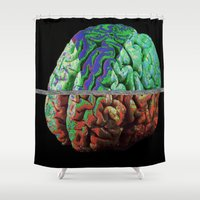 brain Shower Curtains featuring Brain by Brandon Czekay