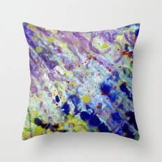 Transparent war of Color's V1 Throw Pillow