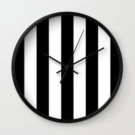 Big Lines Black and White Wall Clock