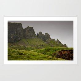 impressions of scotland - quiraing IV Art Print