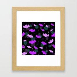 Pastel Bats Framed Art Print