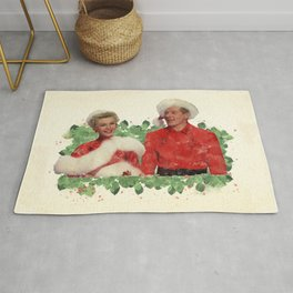 Phil & Judy (White Christmas) Rug