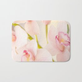 Orchid Flower Bouquet On A Light Background #decor #society6 #homedecor Bath Mat