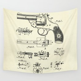 Cylinder Catch for Revolvers-1890 Wall Tapestry