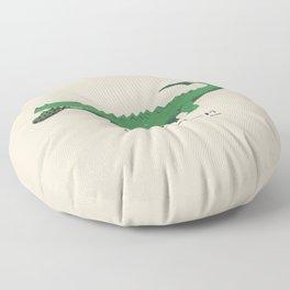 croc cannibalism Floor Pillow