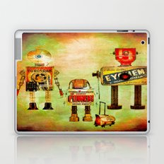 The family robots go to the school Laptop & iPad Skin