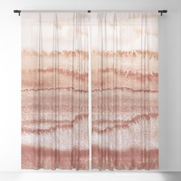 WITHIN THE TIDES BURNISH RED by Monika Strigel Sheer Curtain