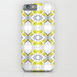 Pattern 43 - Maple Leaf and Branches pattern iPhone Case