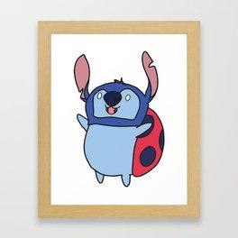 Catbug / Stitch Framed Art Print