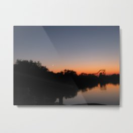 Night Coaster Metal Print