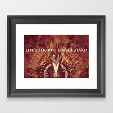 Dance Hard Framed Art Print