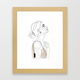 Beige Beauty Framed Art Print
