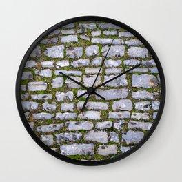 Cobblestone Wall Clock