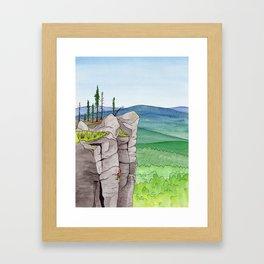 Explorer: The Heights Framed Art Print