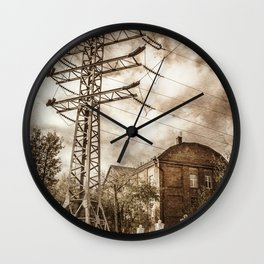 Old Powerstation Wall Clock