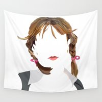 britney Wall Tapestries featuring Britney by Bethany Mallick