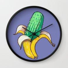 Banana Pickle Wall Clock
