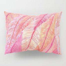 Blush Feathers Pillow Sham