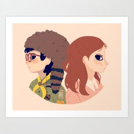 Sam and Suzy Art Print