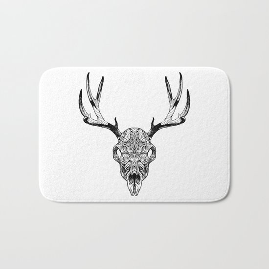 Deer Skull Bath Mat