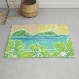 Naupakas in Paradise Surf Art by Lauren Tannehill Rug