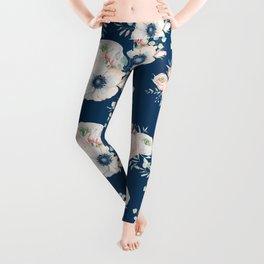 Dog Rose Pattern Leggings