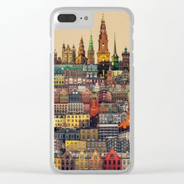 Copenhagen Facades Clear iPhone Case