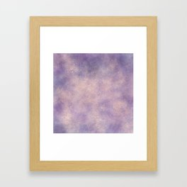 Modern glitter purple lavender watercolor wash Framed Art Print