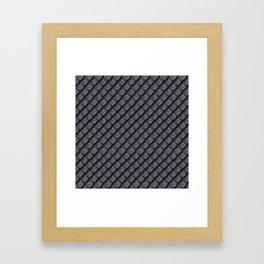 Elegant Steel Dragon Scale Framed Art Print