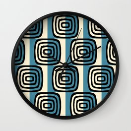 Mid Century Modern Concentric Pattern 239 Wall Clock
