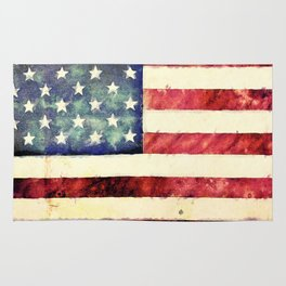 Vintage American Flag Rug