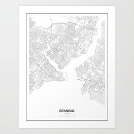 Istanbul, Turkey Minimalist Map Art Print