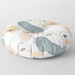 Minimal Figurative Pattern Floor Pillow