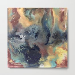 Abstract Floral Swirl Metal Print