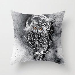 OWL BW Throw Pillow