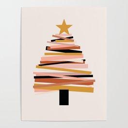 Ribbon Christmas Tree - neutrals Poster