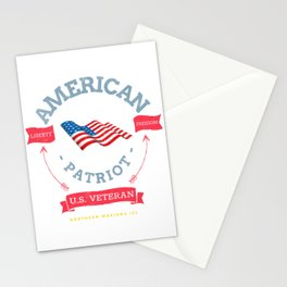 US Veteran and Patriot from Northern Mariana Islands Stationery Cards