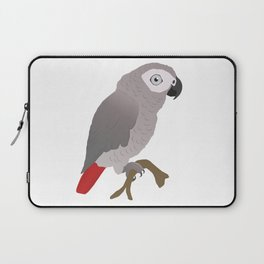 Cute African grey parrot vector Laptop Sleeve