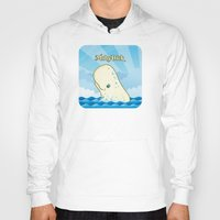 moby Hoodies featuring Moby Dick by David Sevilla