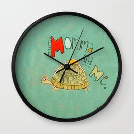Momma and Me Wall Clock