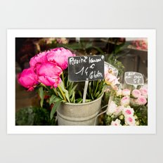 Market Flowers - Paris, France Art Print