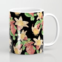 Pomegranate Blooming Flowers and Fruits Coffee Mug